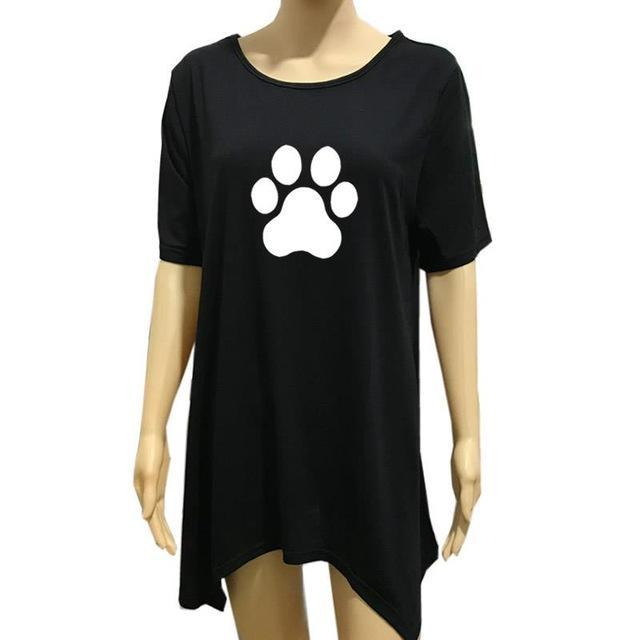 cutecatslovers Black / XXL Beautiful Cat Paw T-Shirt is a must have if you Love Cats