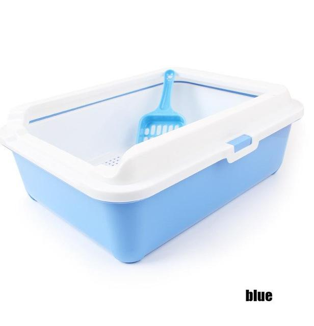 cutecatslovers Blue / 43cm x 31cm x 15cm High-end Cat Toilet Closed Prevent sand throwing WC Cat Toilet, Cats Litter Box Safe and nontoxic