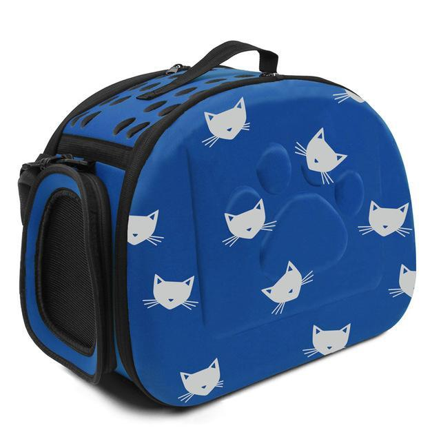 cutecatslovers blue Cat Carrier Bag, Awesome Design With Cat Print
