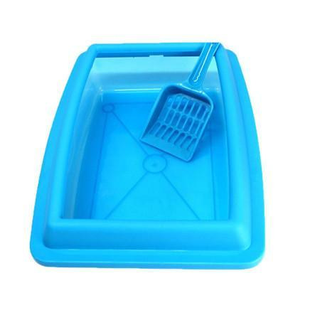 cutecatslovers Blue / M Cat Bedpans Semi Closed Anti-splash 32*23CM Litter Box