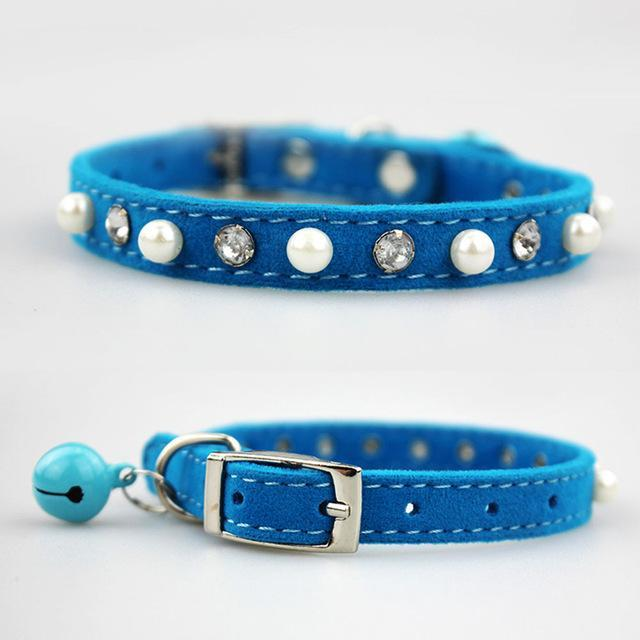 cutecatslovers blue / S 1.0x30cm Cat Collar with Bell for Kitties, Cute Design