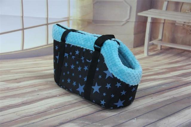 cutecatslovers Blue Star / L Fashion Cat Carrier Bag That will Make You and Your Cat Stand out From The Crowd