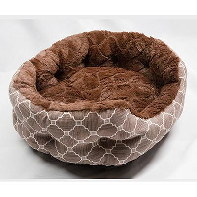 cutecatslovers Brown / 45X40X18 cm Comfortable Soft and Warm Bed For Cats (Ultra Softness for Deep Sleeping)