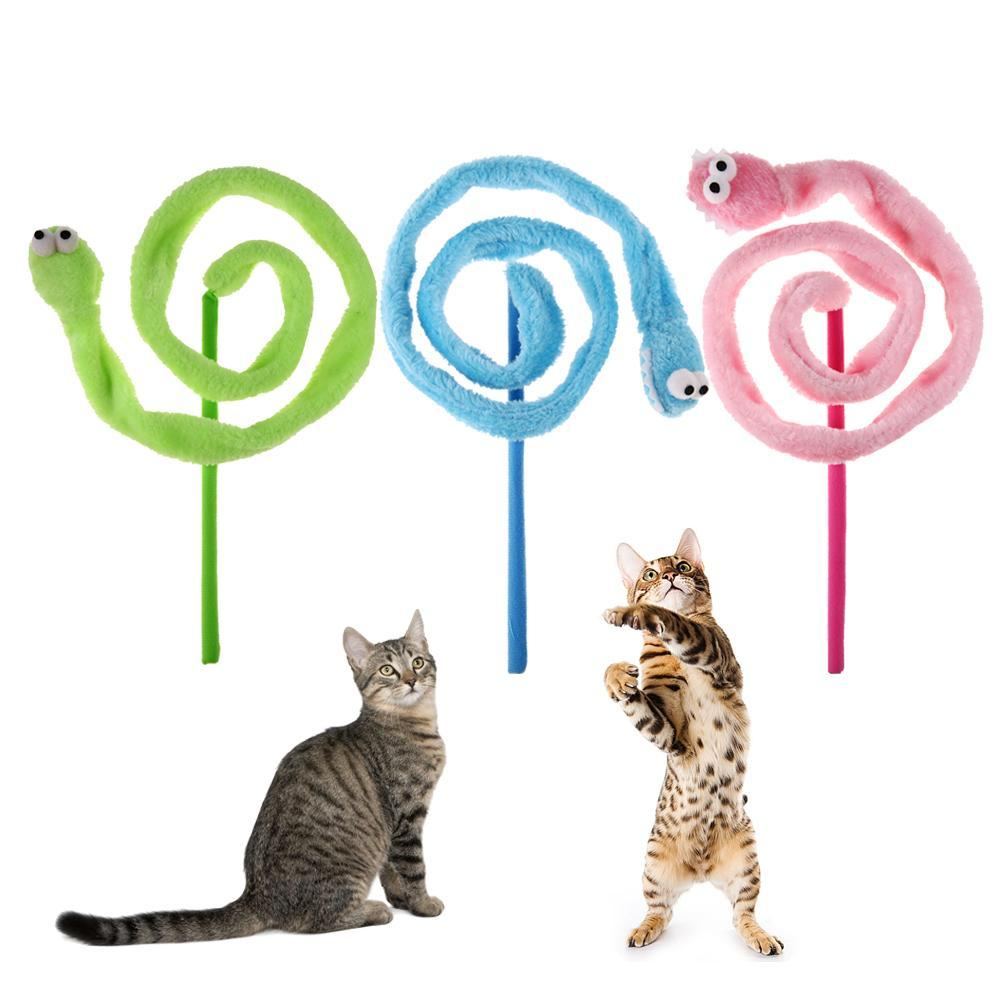 cutecatslovers Cartoon Plush Snake Mint Sound Cat Teaser - Interactive Toy