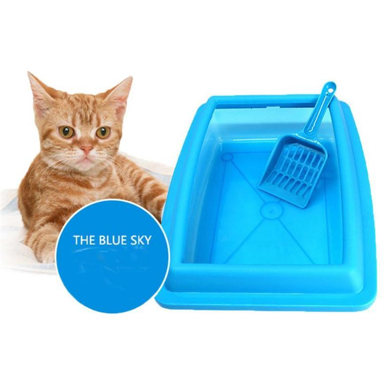 cutecatslovers Cat Bedpans Semi Closed Anti-splash 32*23CM Litter Box