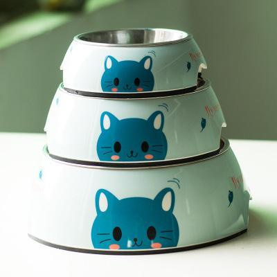 cutecatslovers Cat / L Cute Stainless Steel Feeding Bowl For Cat