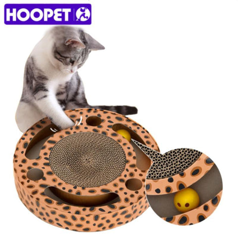 cutecatslovers Cat Toy Rounded Scratcher Multihole with Balls Scratching Post For yOur Cat