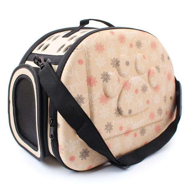 cutecatslovers champagne Cat Carrier Bag, Awesome Design With Cat Print