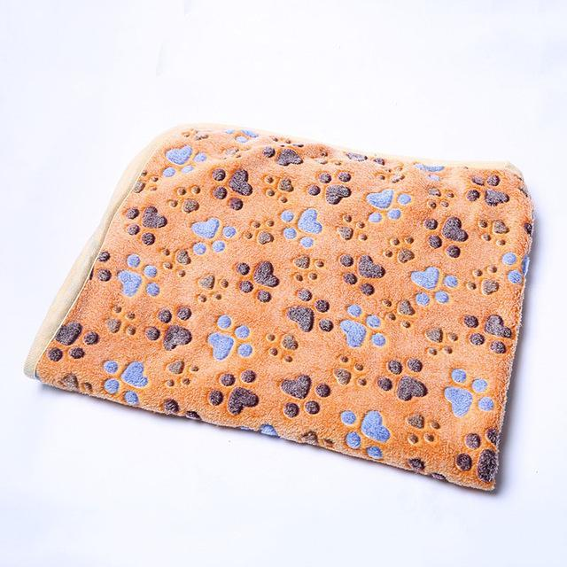 cutecatslovers Coffee / 20 x 20 cm Warm Paw Print Cute Floral Bed Mat for Your Cat