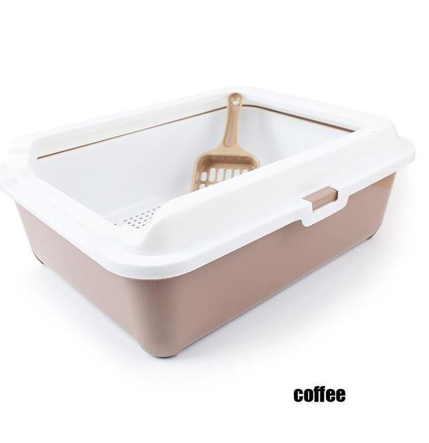 cutecatslovers Coffee / 43cm x 31cm x 15cm High-end Cat Toilet Closed Prevent sand throwing WC Cat Toilet, Cats Litter Box Safe and nontoxic