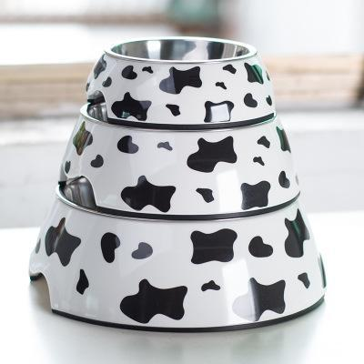 cutecatslovers Cow / L Cute Stainless Steel Feeding Bowl For Cat