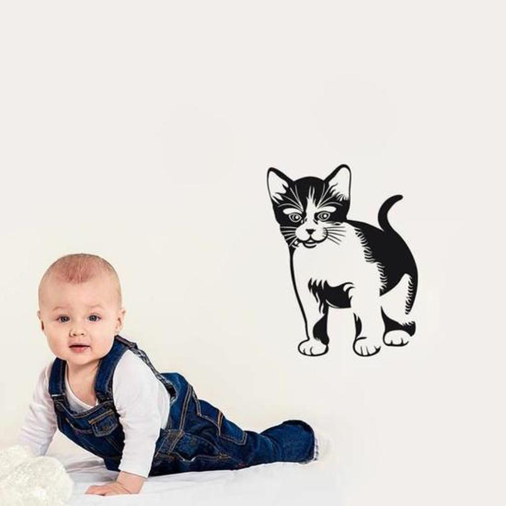 cutecatslovers Cute Design 30cm*38cm Black Cat Sticker
