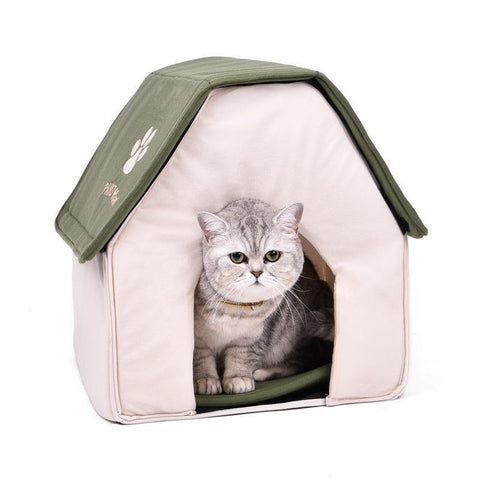cutecatslovers Cute Foldable Cat House, Great Design And Perfect Resting Place For Your Cat