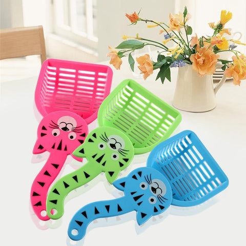 cutecatslovers Cuteee Cat Litter Box Scoop Shovel with Tail Design