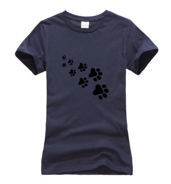 cutecatslovers dark blue 1 / S Cat Paws Fashion T-Shirt