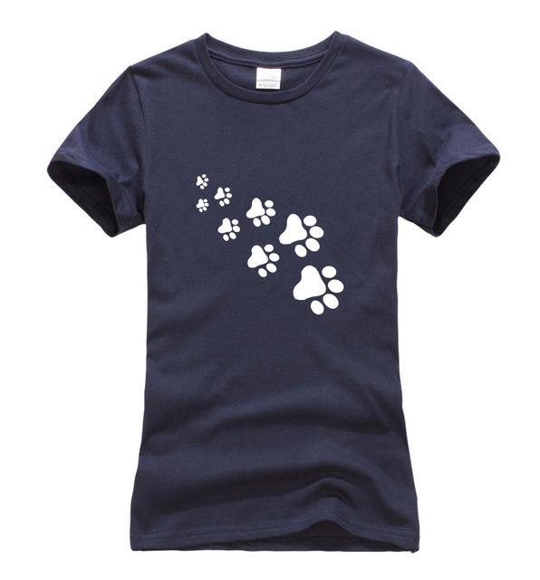 cutecatslovers dark blue / S Cat Paws Fashion T-Shirt