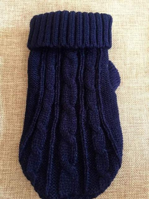 cutecatslovers Dark Blue / Size 4 Sweater for Cats, 9 Choices Of Colors + 6 Sizes For Each Color