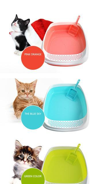 cutecatslovers Default Title Demountable Enclosed Cat Litter With Litter Scoop