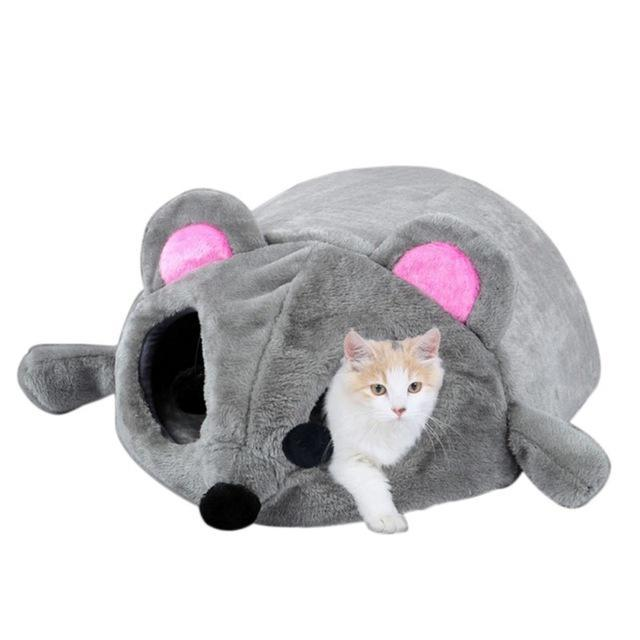 cutecatslovers Default Title Gray Mouse Shaped Bed is a perfect Hideout and Resting Place For Your Cat