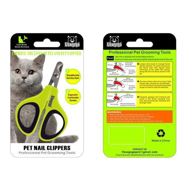 cutecatslovers Default Title Professional Stainless Steel Cat Nail Clippers - Cat Friendly