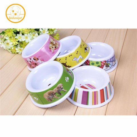cutecatslovers Durable Cat Food / Water Bowl with Cute Cartoon Print