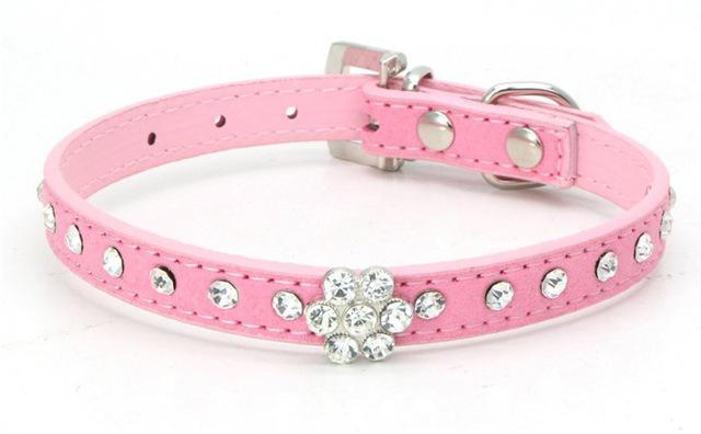 cutecatslovers Genuine leather 1 / M Pink Cute Cat Collar that your Cat will Love