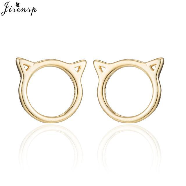 cutecatslovers Gold-color Fashion Earrings Jewelry Cat Shape Cute