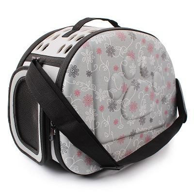 cutecatslovers Gray Cat Carrier Bag, Awesome Design With Cat Print
