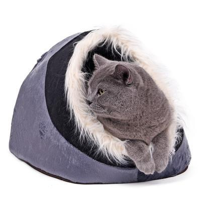 cutecatslovers Gray / M / China Warm Paw Style Cat Cave With Lovely Design - Your Cat Will Fall in Love