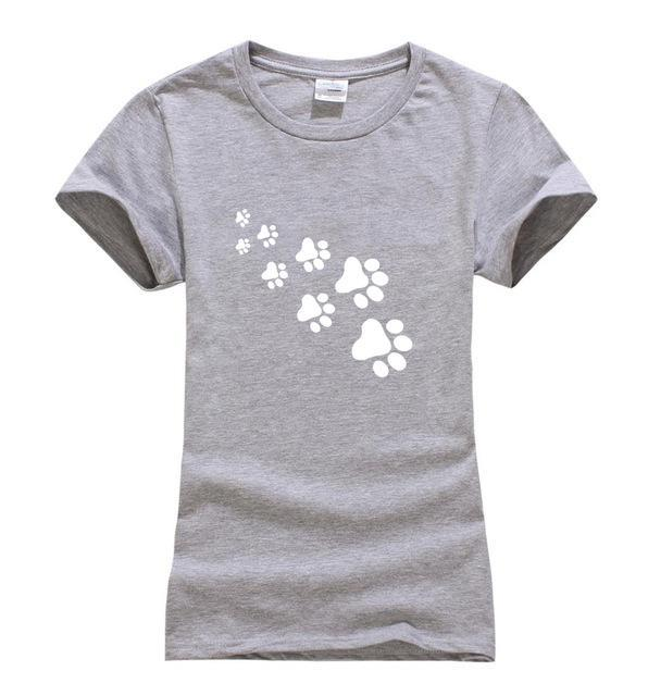 cutecatslovers Gray / S Cat Paws Fashion T-Shirt