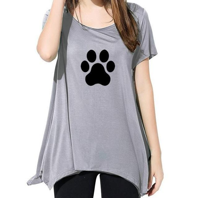 cutecatslovers Gray / XXL Beautiful Cat Paw T-Shirt is a must have if you Love Cats