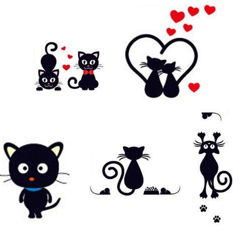 cutecatslovers Great Design Cat Switch Stickers Selection