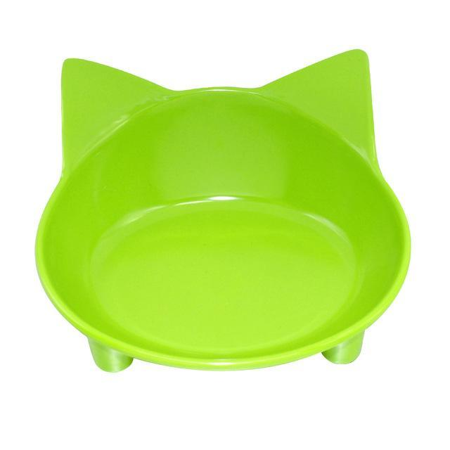 cutecatslovers Green / M Cat Head Shaped Feeding Bowl For Your Cat (Availible in multiple colors)