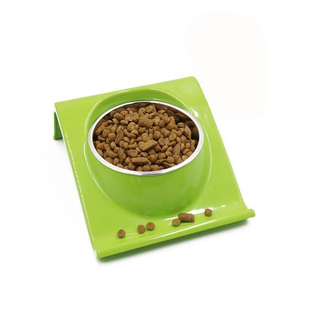 cutecatslovers Green / M Stainless Steel Cat Feeding / Watering Bowl - Modern Design