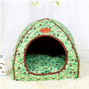 cutecatslovers Green / S 27x27x28cm Soft Cat Bed that is also Warm, Washable Tent, Dirt-resistant