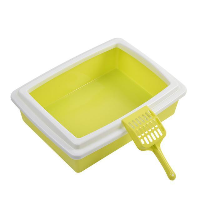 cutecatslovers Green / S Hot Cat Bedpans Candy Color Cat Sand Basin Set Detachable Toilet for Cats