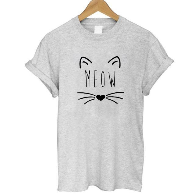 cutecatslovers GREY 3 / S Cat With Style Headphones And Glasses T-Shirt