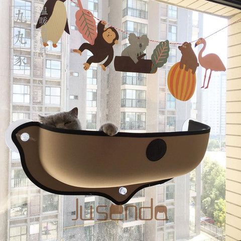 cutecatslovers Hot Hammock Bed Mount Window Pod Lounger With Suction Cups For Your Cat