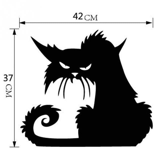 cutecatslovers L Black Cats Decor Decals for Walls, Home Decoration