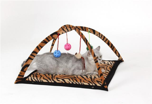 cutecatslovers leopard print / M Two in One - Cat Bed And Playground - The Best Place For your Cat to have a good time