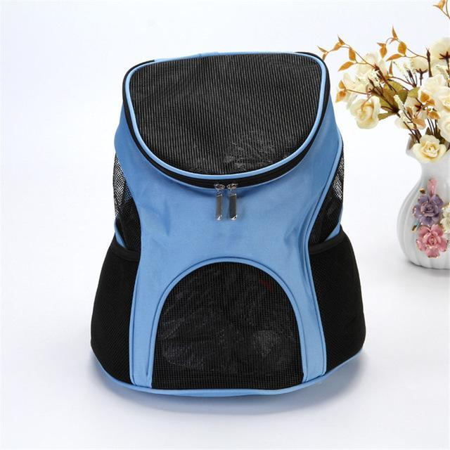 cutecatslovers Light Blue Cat Carrier With Cute Design, great for transport and traveling
