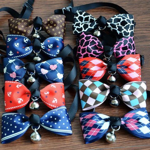 cutecatslovers Lovely Adjustable 9 Colors Plaid Leopard Print Cat Collar / Necklace