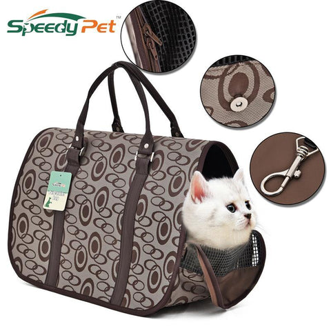 cutecatslovers Luxury Cat Bag Carrier for Traveling is a Great Breathable and Foldable Handbag for Your Cat and Accessories