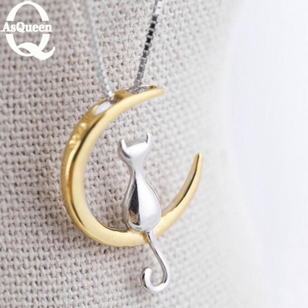 cutecatslovers Moonlight Cat Necklace (Keep Your Cat Close To Your Heart)