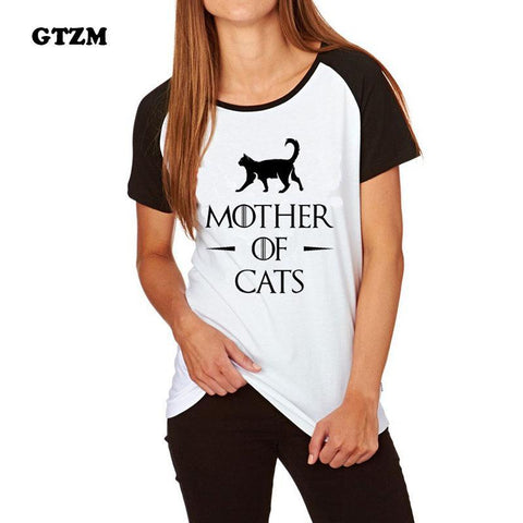 cutecatslovers Mother Of Cats - Funny GOT MOC T-Shirt