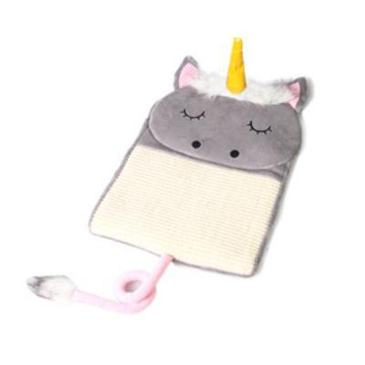 cutecatslovers NS901-G / 44CM x 37 CM (L x W) Adorable Unicorn Cat Scratcher Bed Mat For Your Cat