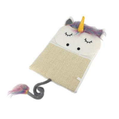 cutecatslovers NS901-W / 44CM x 37 CM (L x W) Adorable Unicorn Cat Scratcher Bed Mat For Your Cat