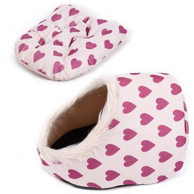 cutecatslovers Pink Heart / M / China Warm Paw Style Cat Cave With Lovely Design - Your Cat Will Fall in Love