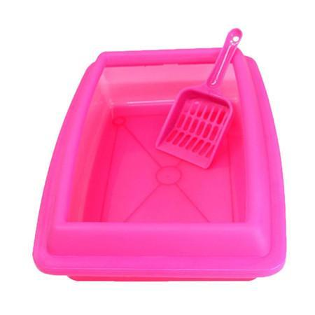cutecatslovers Pink / M Cat Bedpans Semi Closed Anti-splash 32*23CM Litter Box
