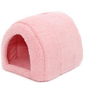 cutecatslovers Pink / M / China Soft Cat House for Indoors - Lovely hideout for your Cat
